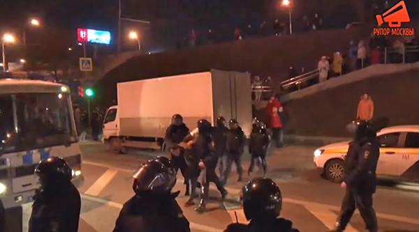 Полиция задержала противников ЮВ-хорды в Москве(2020)|Фото: youtube.com/Рупор Москвы