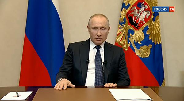 Обращение Владимира Путина по ситуации с коронавирусом(2020) Фото: Россия 24
