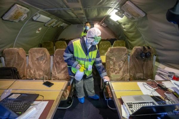 дезинфекция, самолет, авиаперевозки, коронавирус(2020)|Фото: пресс-служба аэропорта Домодедово