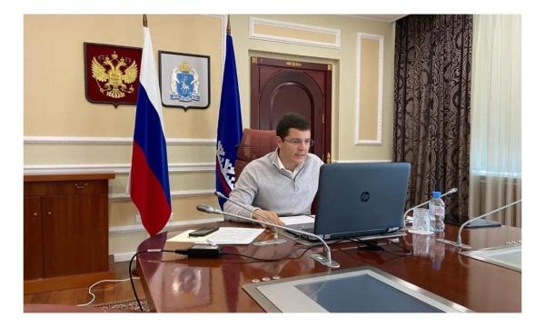 Дмитрий Артюхов, заседание оперативного штаба(2020) Фото: Правительство Ямала