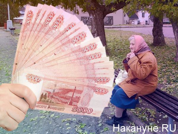 Коллаж, бабушка, деньги(2020)|Фото: Накануне.RU