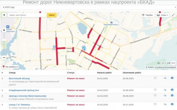 Ремонт дорог, план, 2020, Нижневартовск(2020)|Фото: Администрация Нижневартовска