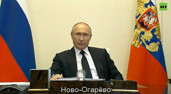 Вступительное слово Путина перед совещанием с членами правительства(2020)|Фото: RT