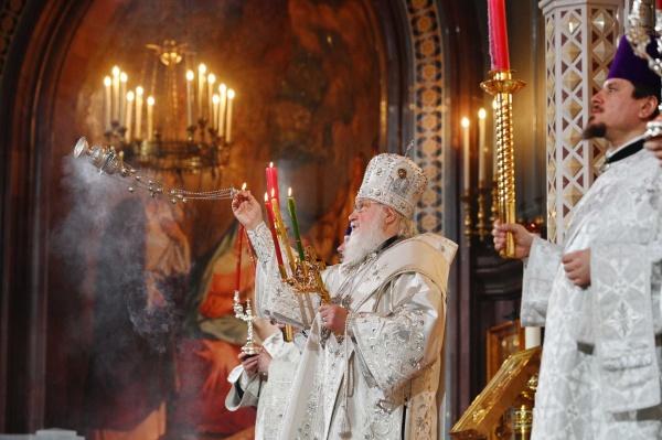 Пасха, пасхальная служба, патриарх Кирилл(2020) Фото: patriarchia.ru/фото Олег Варов