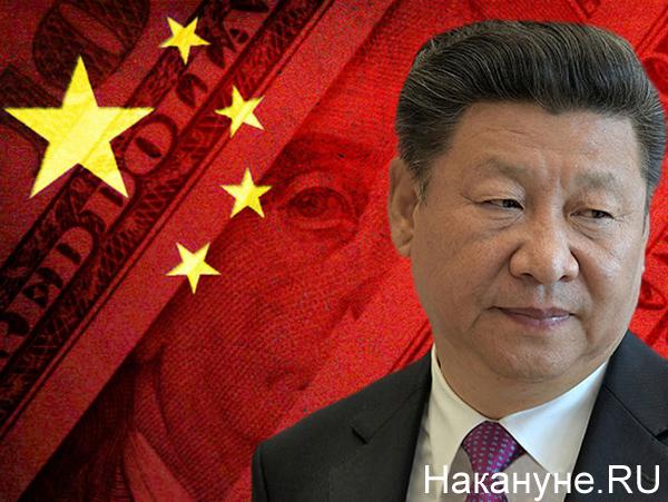 Коллаж, Си Цзиньпин, Китай, доллар, капитализм(2020)|Фото: Накануне.RU