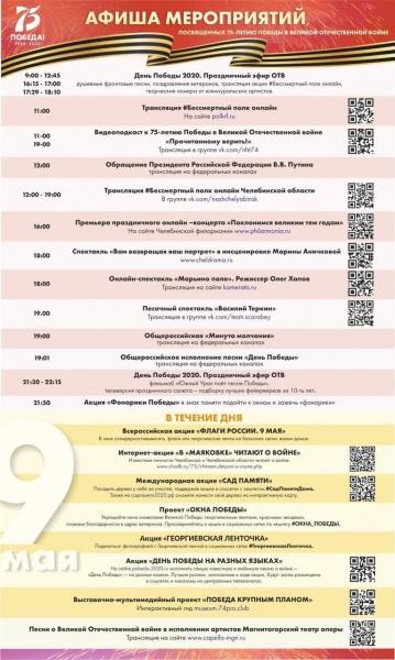афиша празднования Дня Победы(2020)|Фото: пресс-служба губернатора Челябинской области