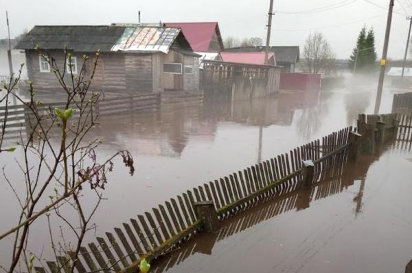 подтопление, частный сектор, половодье, разлив рек, затопление(2020) Фото:пресс-служба правительства Вологодской области