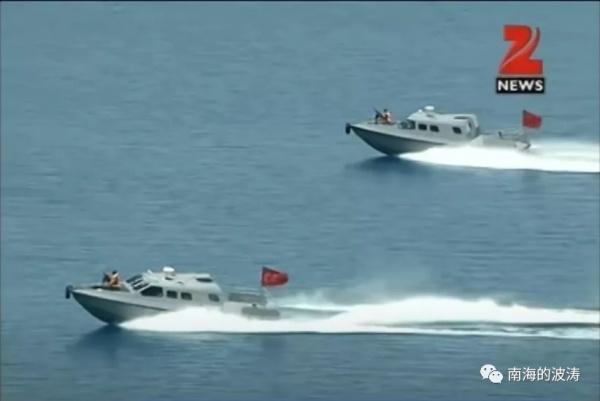Учения индийских патрульных катеров на озере Пангонг-цо(2020)|Фото: mp.weixin.qq.com