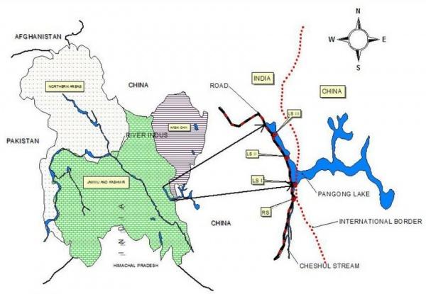Озеро ПАнгонг-цо(2020)|Фото: researchgate.net