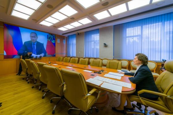 Владимир Путин, Наталья Комарова(2020) Фото: admhmao.ru