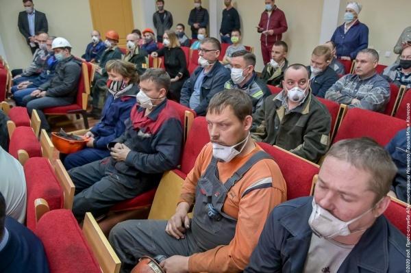 Встреча рабочих НТЗМК с мэром Нижнего Тагила(2020) Фото: ntagil.org
