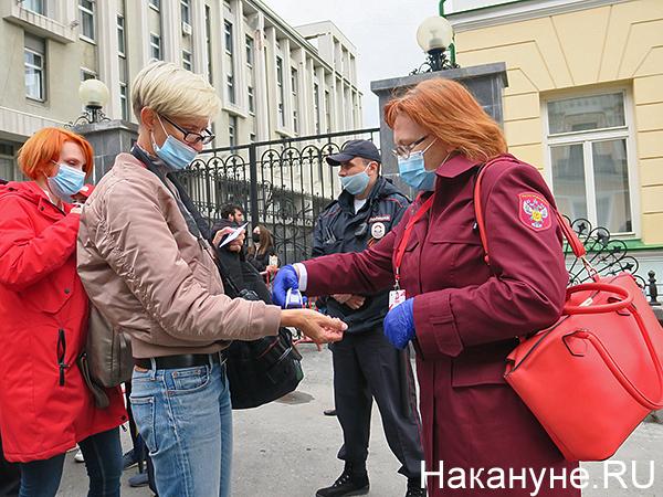 температура, роспотребнадзор, парад Победы в Екатеринбурге(2020)|Фото: Накануне.RU