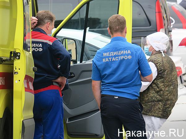 скорая, медицина катастроф, парад Победы в Екатеринбурге(2020)|Фото: Накануне.RU