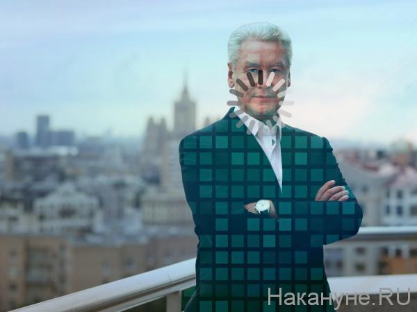коллаж, Сергей Собянин, цифровизация(2020)|Фото: Накануне.RU
