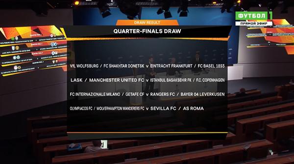 Жеребьёвка Лиги Европы(2020)|Фото: Матч ТВ