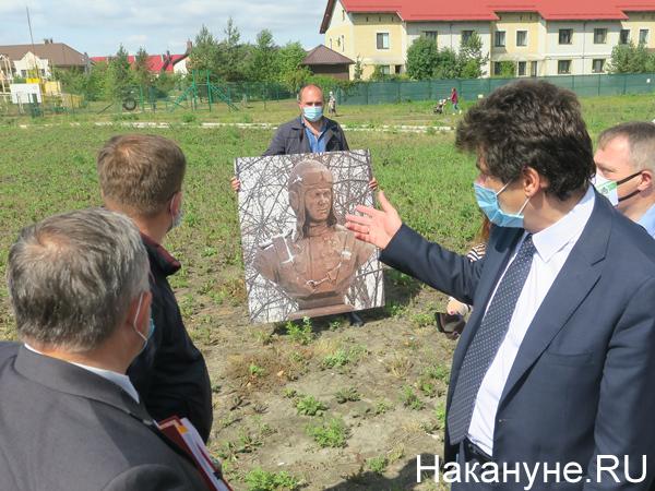 Александр Высокинский на месте размещения бюста Григорию Речкалову(2020) Фото: Накануне.RU