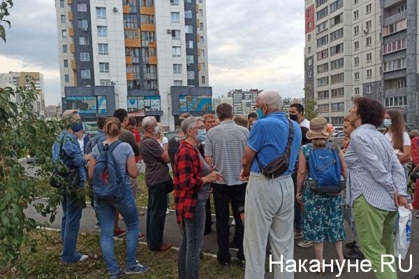 экоактивисты против вырубки деревьев под центр олимпийской подготовки по хоккею(2020)|Фото: Накануне.RU