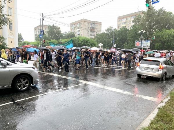 акция в Хабаровске в поддержку Сергея Фургала(2020)|Фото: администрация города Хабаровска