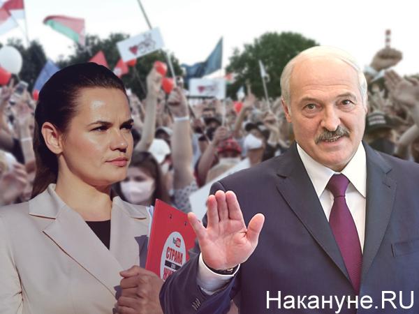 Коллаж, выборы в Белоруссии, Александр Лукашенко, Светлана Тихановская(2020)|Фото: Накануне.RU