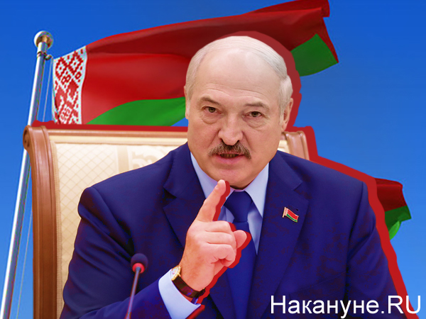 Коллаж, Александр Лукашенко, флаг Белоруссии(2020)|Фото: Накануне.RU