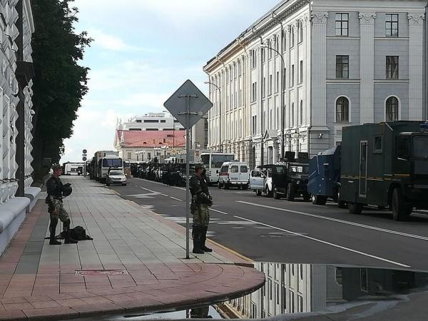 Белорусские силовики на улицах Минска(2020) Фото: people.onliner.by