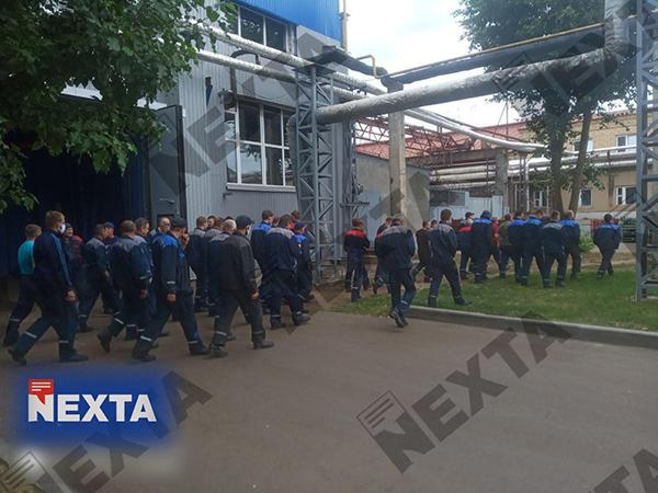 Рабочие на БелАЗе в Белоруссии (2020)|Фото: Telegram / NEXTA Live