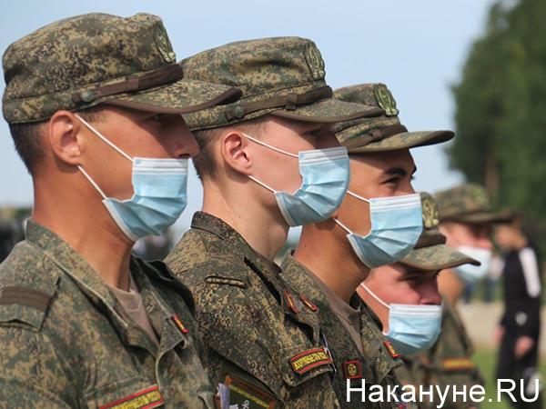 Армия 2020, солдаты в масках(2020) Фото: Накануне.RU
