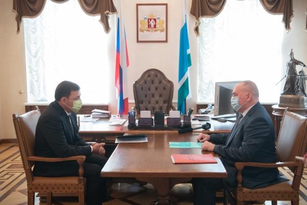 Евгений Куйвашев, Андрей Карлов(2020)|Фото: ДИП Свердловской области
