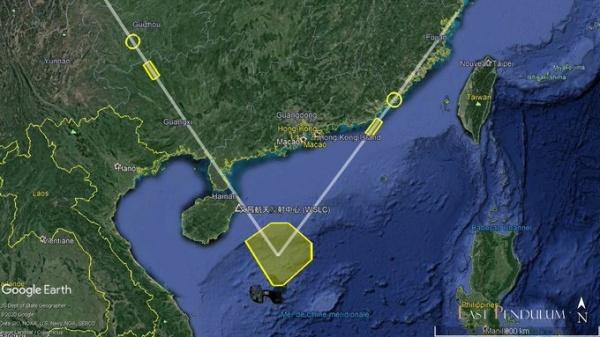 Карта ракетных испытаний НОАК 26.08.20(2020)|Фото: mp.weixin.qq.com