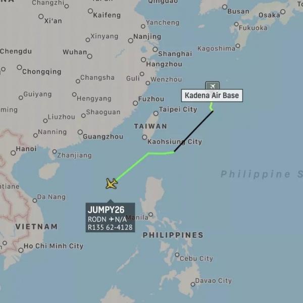 Вылет американского разведчика к конечной точке ракетных стрельб НоАК 26.08.20(2020)|Фото: mp.weixin.qq.com