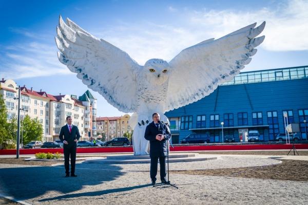 Владимир Якушев, сова, Белоярский(2020)|Фото: Департамент общественных и внешних связей Югры