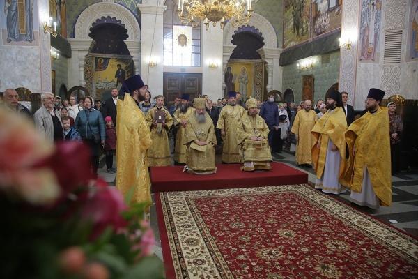 Храм-на-крови, архиерейская служба(2020)|Фото: Екатеринбургская епархия