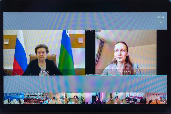 Наталья Комарова, прямой эфир, экология(2020)|Фото: Департамент общественных и внешних связей Югры
