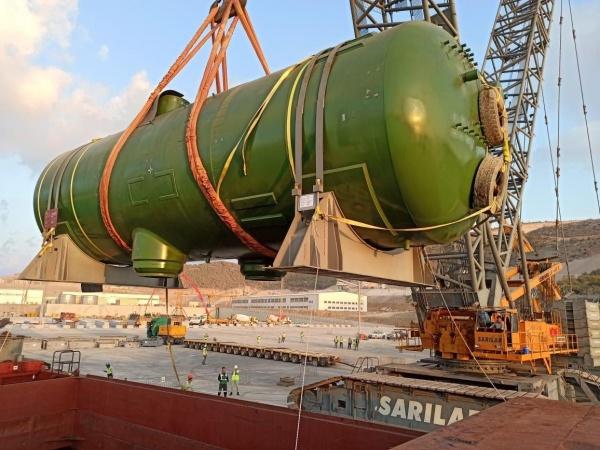 Поставка российского оборудования на АЭС Аккую(2020)|Фото: t.me/infranews/8425