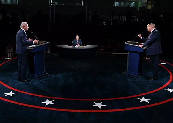 Дебаты Дональда Трампа и Джо Байдена(2020)|Фото: AFP 2020 / Pool/Olivier Douliery