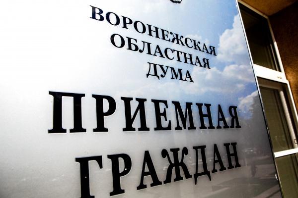 Приемная, обращения граждан, воронежская областная дума(2020)|Фото: Пресс-служба Воронежской областной думы