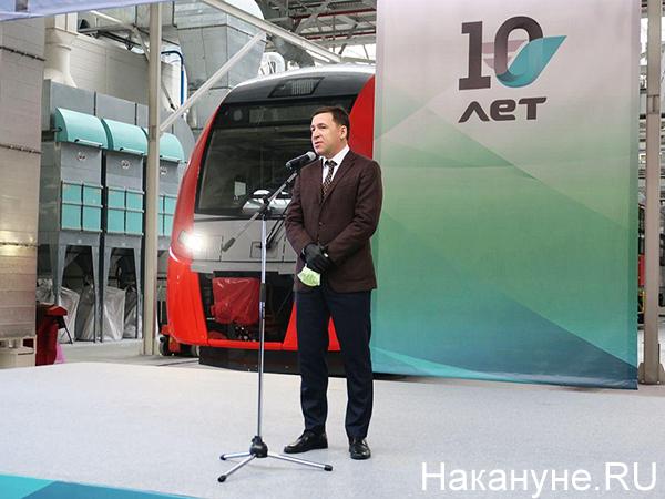церемония начала строительства нового производственного комплекса по выпуску инновационных электропоездов для высокоскоростных магистралей (ВСМ)(2020) Фото: Накануне.RU