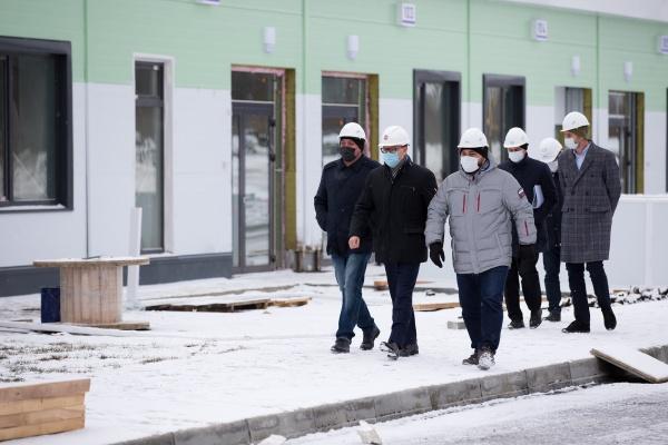 Алексей Текслер, инфекционная больница, строительство,(2020)|Фото: пресс-служба губернатора Челябинской области