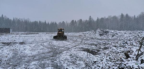 Место строительства мусороперегрузочной станции в Бисерти(2020)|Фото: Департамент информационной политики Свердловской области