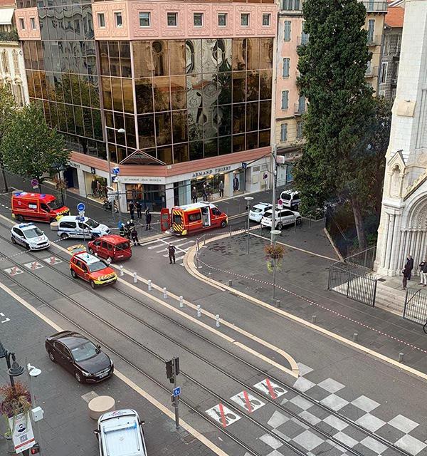 Полиция в Ницце(2020) Фото: Telegram/Mash