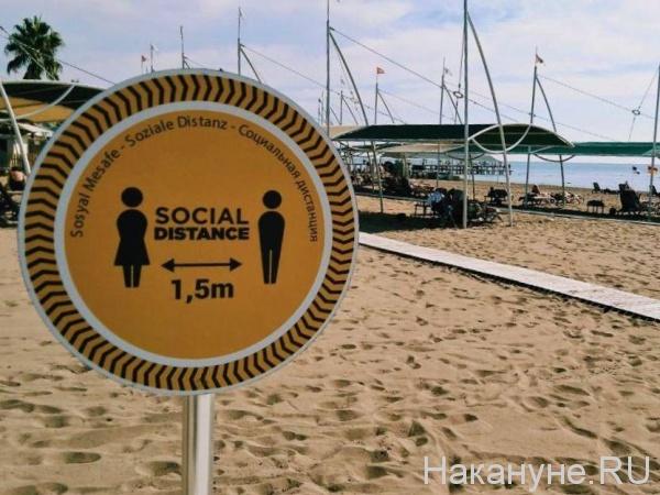 социальная дистанция, пляж, туризм, карантин, Турция(2020)|Фото: Накануне.RU