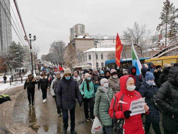 Митинг в Хабаровске в поддержку Сергея Фургала 07.11.20.(2020)|Фото: T.me/vehernij_habarovsk / Telegram-канал
