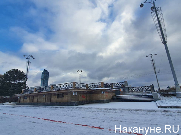 Место, где была Краснознаменная группа в Екатеринбурге(2020)|Фото: Накануне.RU
