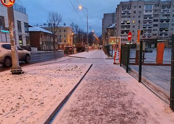 Тротуар в Перми(2020) Фото: instagram.com/samoilovperm