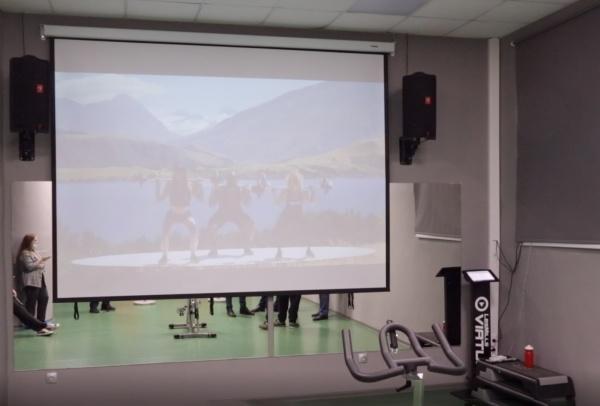 фитнесс, он-лайн, тренажер, экран(2020)|Фото: пресс-служба УрГЭУ