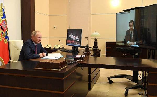 Владимир Путин, Вячеслав Гладков(2020)|Фото: kremlin.ru