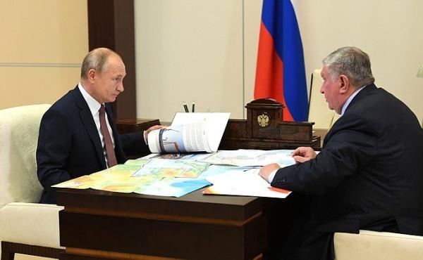 Владимир Путин и Игорь Сечин.(2020)|Фото: пресс-служба Кремля / Kremlin.ru