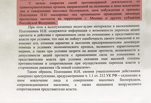 постановление по Платошкину(2020)|Фото: vk.com/platoshkin.nikolay