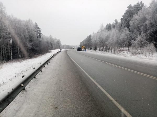 Авария на трассе зимой.(2020)|Фото: УГИБДД ГУ МВД России по Свердловской области