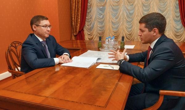 Владимир Якушев, Дмитрий Артюхов(2020)|Фото: Администрация Ямала